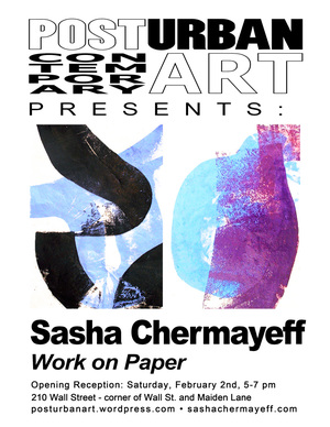Post Urban Contemporary Art presents Sasha Chermayeff Works on Paper